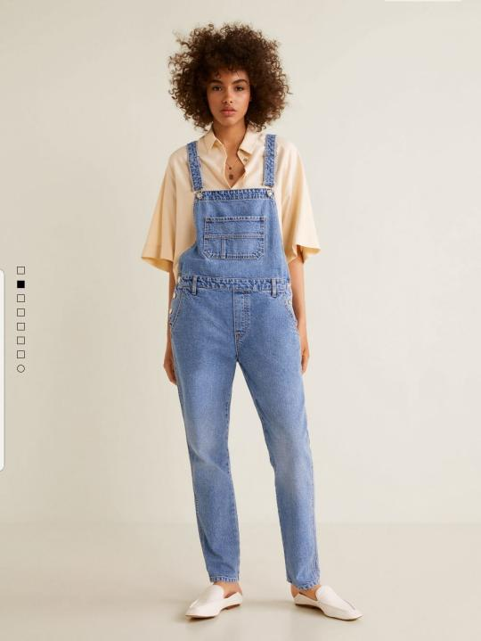 Baju Jeans Kodok Denim Dungrees Mango Authentic Not Jumpsuit Zara HNM