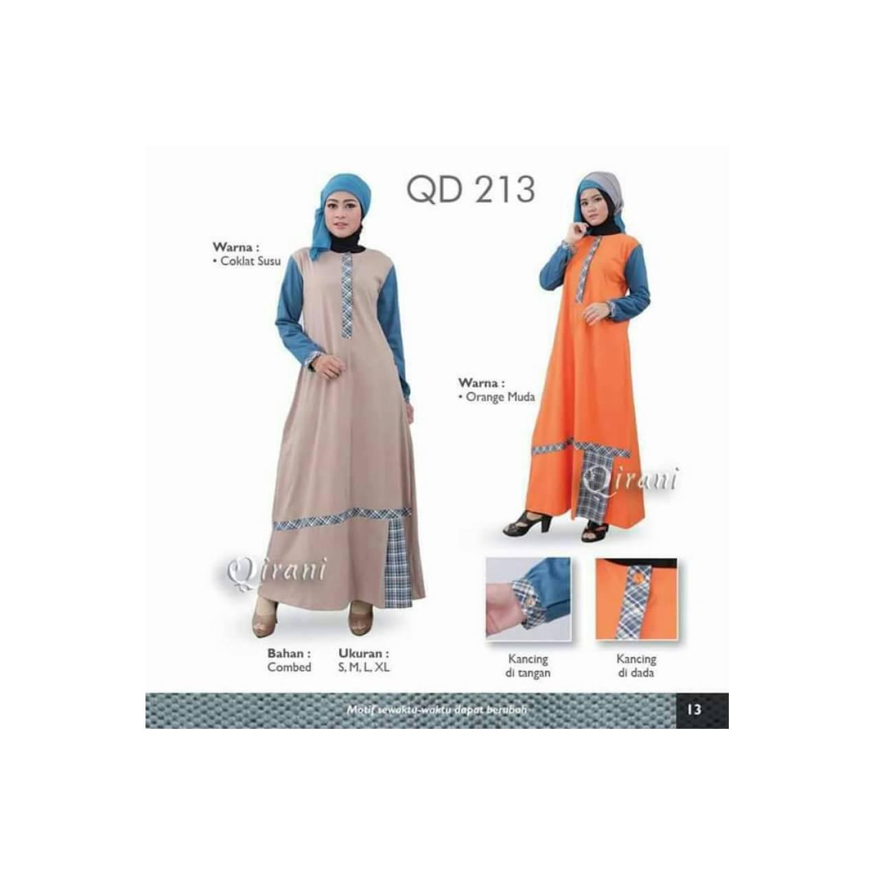 DRESS MUSLIM QIRANI QD 213 - GAMIS SEHARI-HARI/BAJU MUSLIM