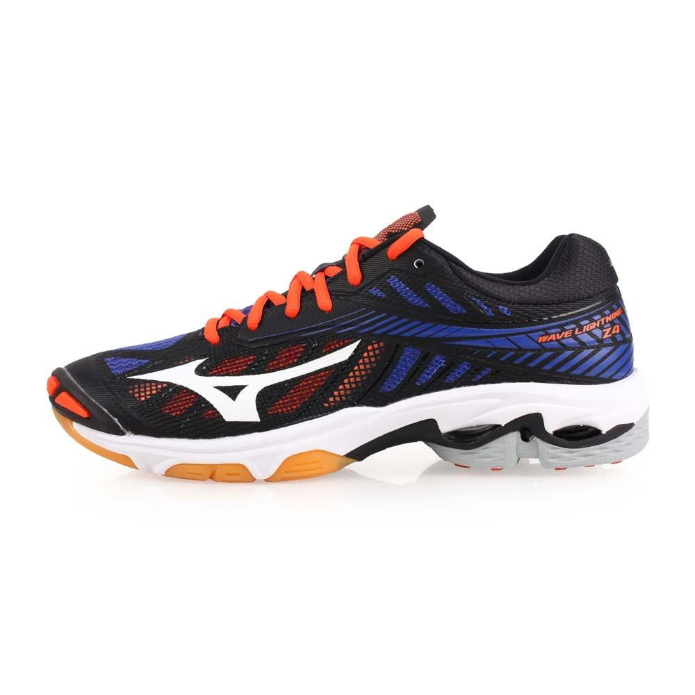 Sepatu Volley Mizuno Wave Lighning Z4 Black Blue V1GA180024 Original 46213bf567