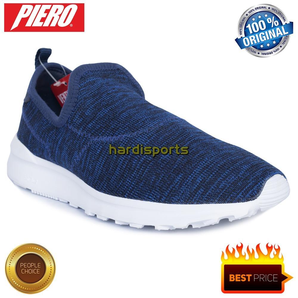 Sepatu Sneaker Pria Piero Ventura Knit P20330 - Navy White d03a7a00bb
