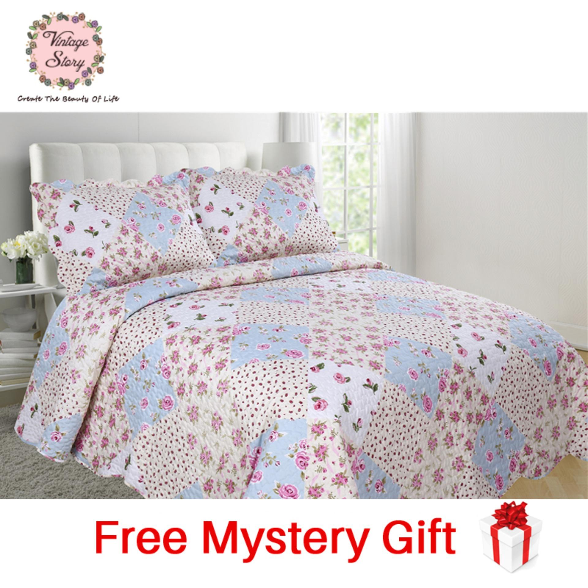 Vintage Story - Shabby Bed Cover Set Korea Size King 220x240 cm B12