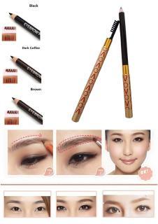 Pensil Alis Tahan Lama Kualitas Tinggi dengan Brush EyeBrow 3D Cream Pencil with Brush Waterproof Import thumbnail
