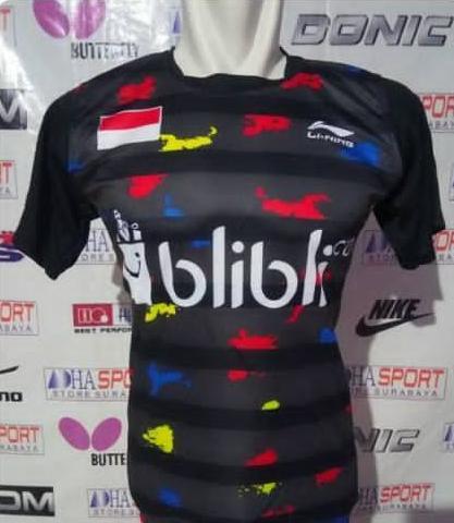 Kaos Baju Badminton Li-Ning 003 Jersey Bulutangkis Murah Promo Diskon Adha Sport
