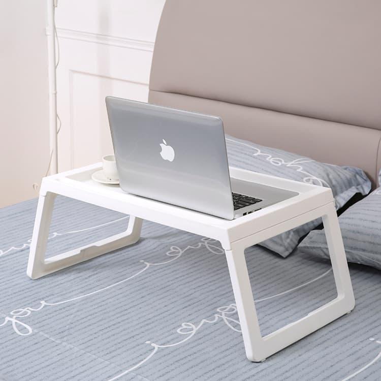 LARS - Meja belajar Nampan bed Meja laptop  ( bukan produk ikea klipsk bed ) - Putih