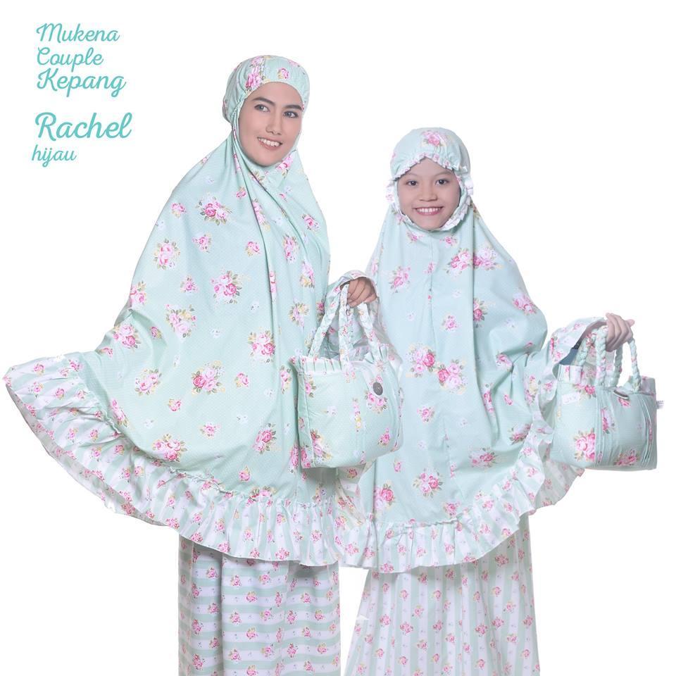 viza - MUKENA COUPLE (IBU ANAK) KATUN JEPANG BUNGA RACHEL HIJAU KEPANGbaju muslim wanita / baju muslimah / baju muslim wamita terbaru / baju muslim murah TERBARU!!