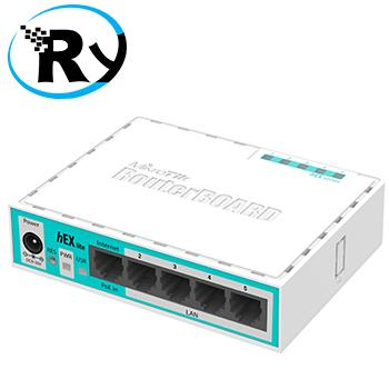Router Wireless Mikrotik Router Indoor RB750r2 hEX Lite RB750 r2 White Blue