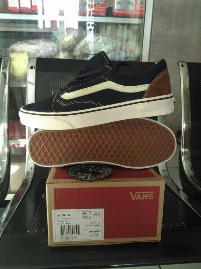Harga Promo!!! Sepatu Vans Oldskool Bajairis Black Navy White Hitam Putih Ori Premium - ready stock