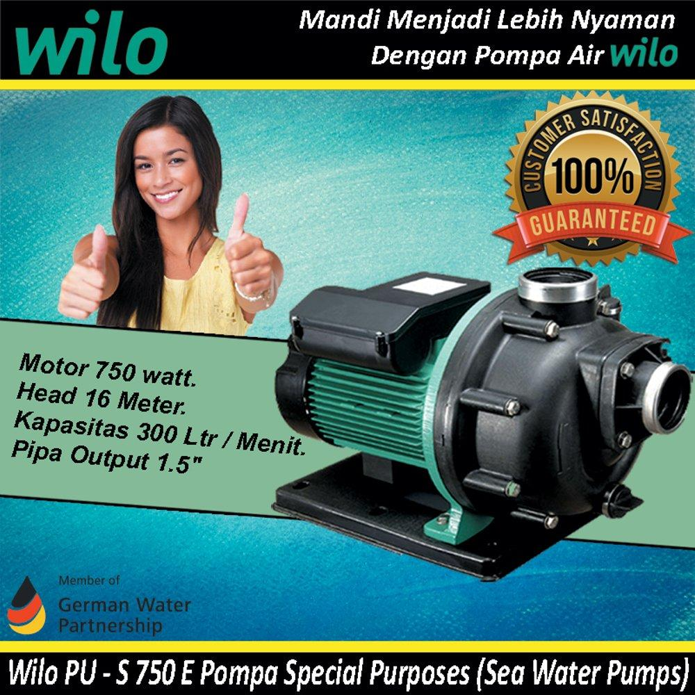 Buy Sell Cheapest Wilo Pompa Air Best Quality Product Deals Pc 300 Merk No1 Germany Jet Sumur Dalam Tahan Banting Water Pump Pu S 750 E Sea