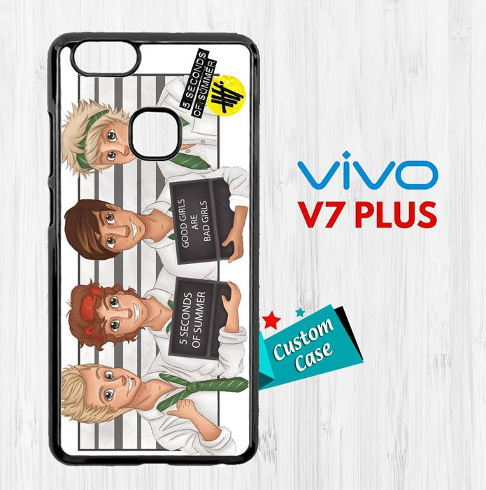 5 seconds of summer vektor E0025 Casing HP Vivo V7 Plus Custom Case Cover
