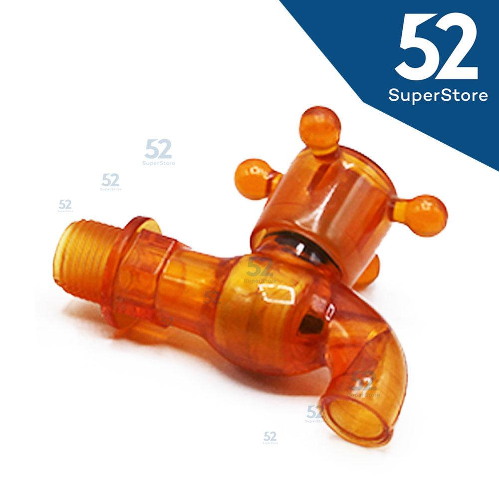 52 Superstore Keran/Kran Air Plastik  - ISI 10 PCS (RANDOM COLOUR)