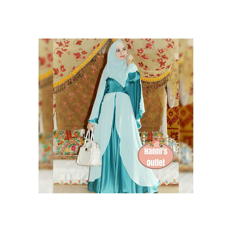 Dress Cantik MS001 Tosca Gamis Syari Elegan untuk Lebaran