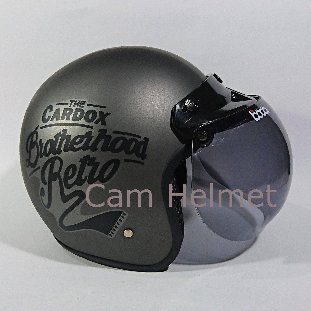 Helm Bogo Brotherhood Abu Doff dan Kaca Bogo original di lapak Cam Helmet cam_helmet