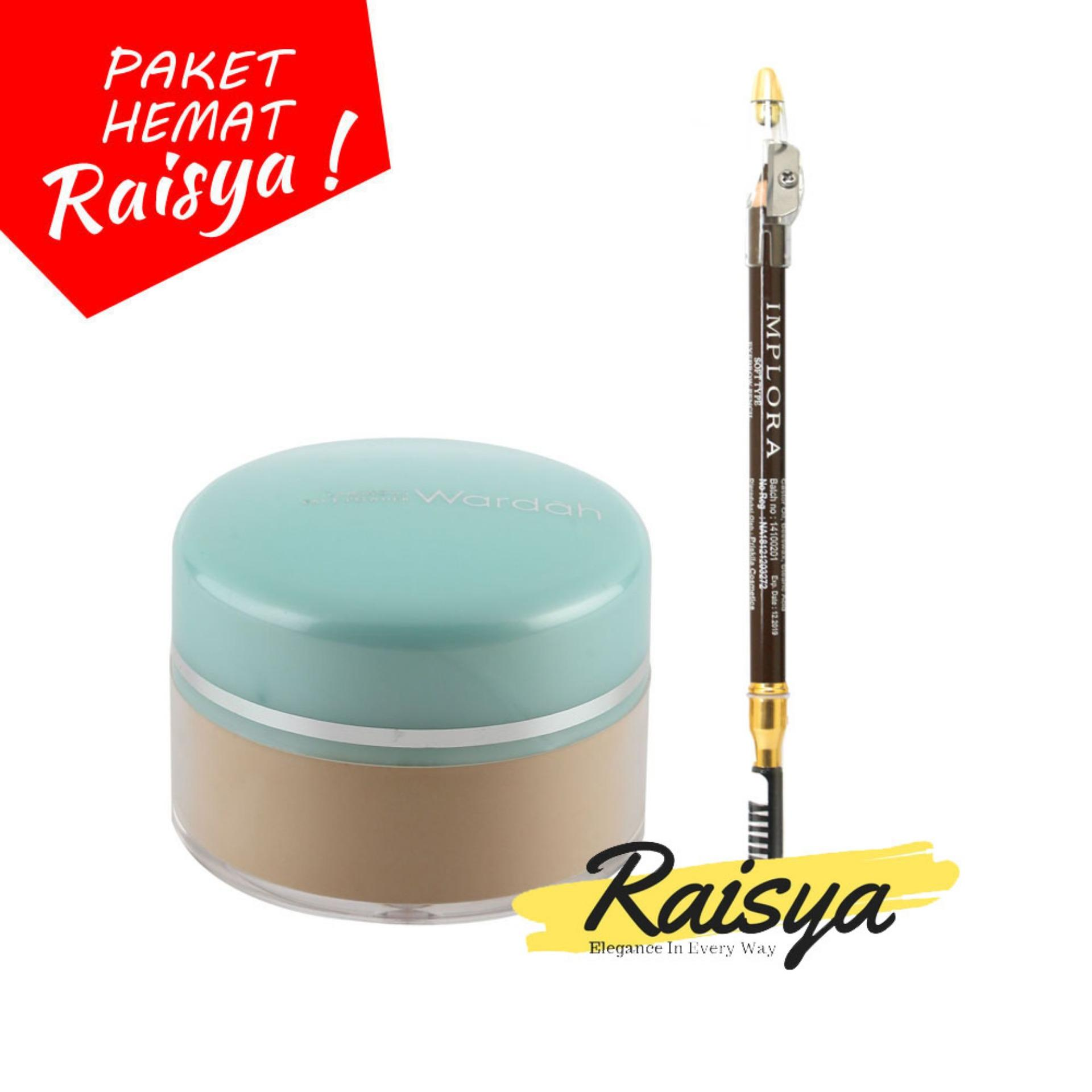 Wardah Everyday Luminous Face Powder - Bedak Tabur - 03 Ivory Free Implora Pensil Alis Coklat Resmi BPOM