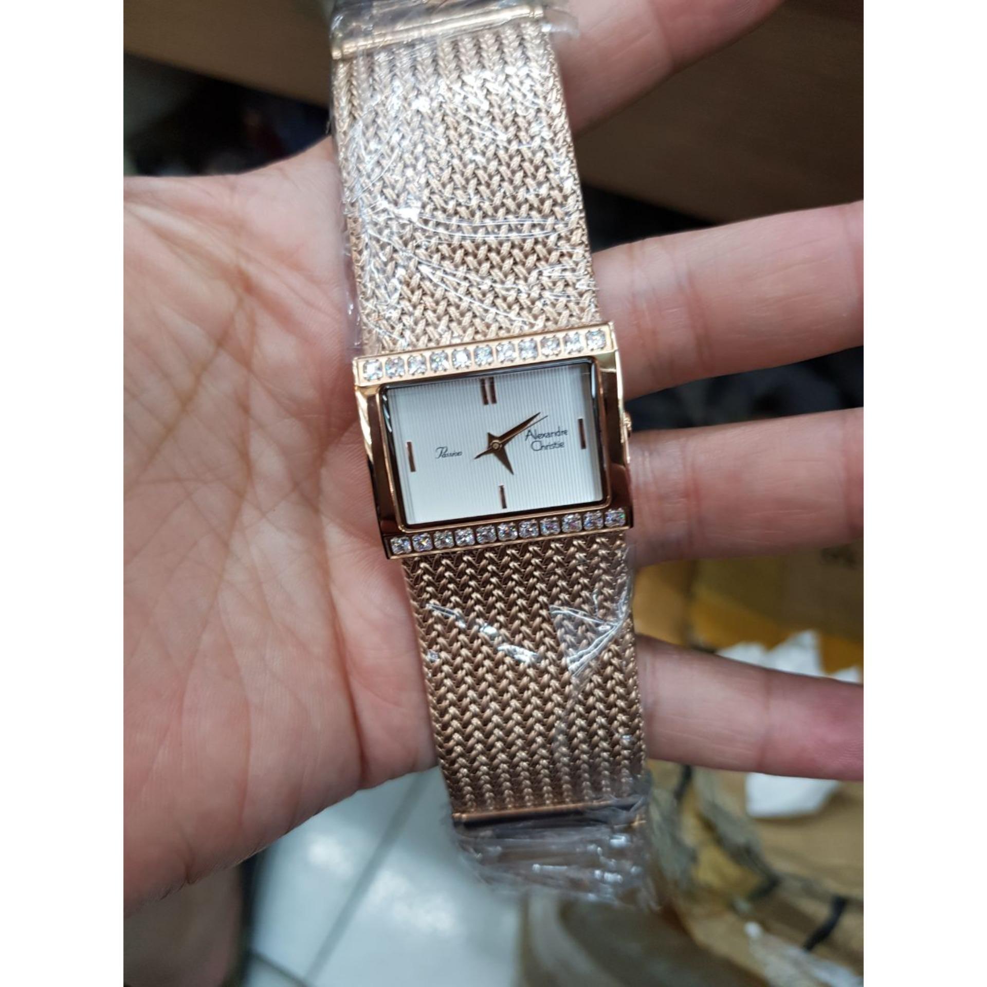 Alexandre Christie AC2466OS - Jam Tangan Fashion Wanita Murah - Design Pasir Steel
