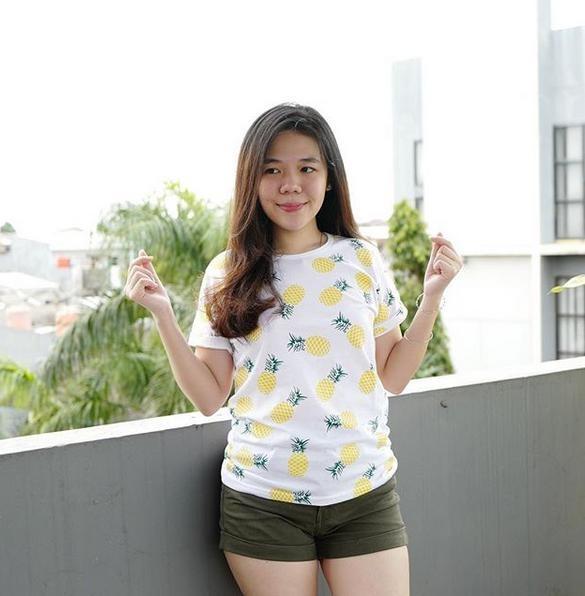 Acc Global / Kaos Lengan Pendek / Kaos Wanita / T-Shirt full print nanas murah