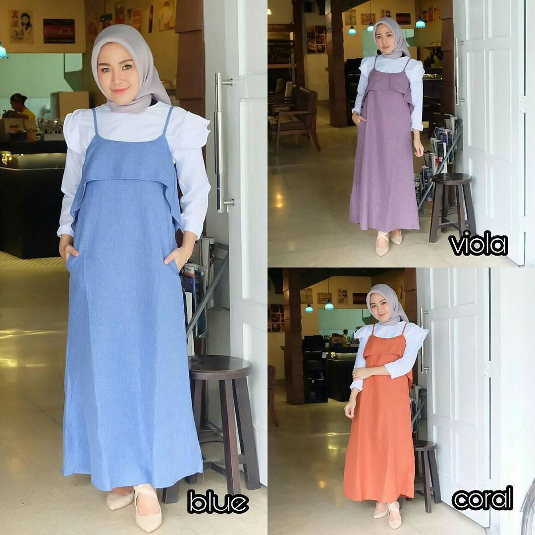 New Baju Original Patricia Maxy 2IN1 Setelan Atasan + Celana Rok Overall Fashion Wanita Pakaian Muslim Cewek Hijab