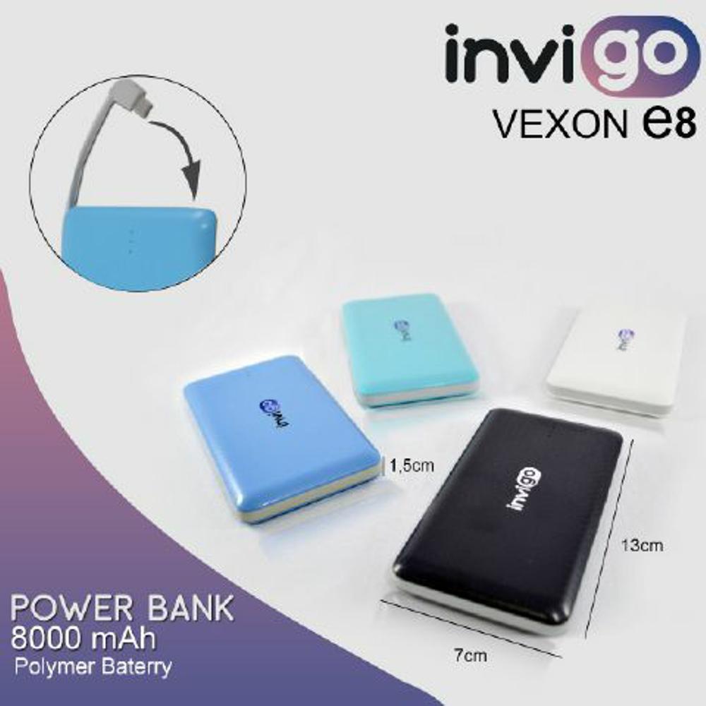 Powerbank Original 8000mah Invigo Vexon E8 slim garansi murah bukan hippo robot vivan di lapak A3 Autocare thiotea