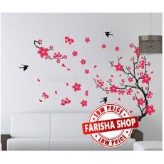 Wall sticker Plum Flower and Swallows AY818 (90x60) Stiker Dinding