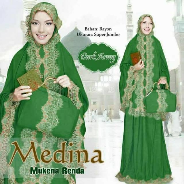 Mukena Bali Renda Medina Best Seller (Colour Series) (abu abu)