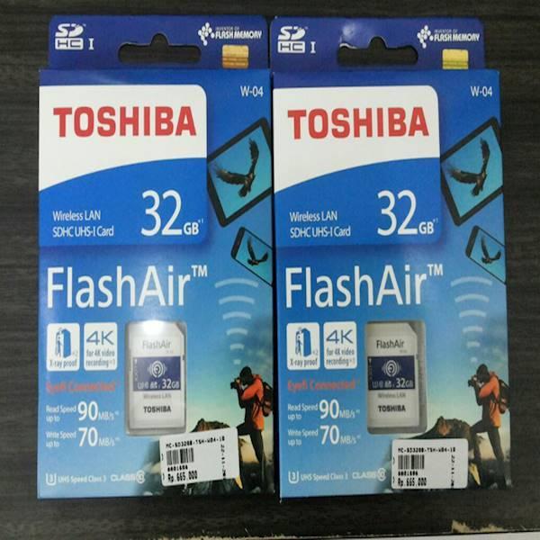 Toshiba Flashair Wireless Card 32GB WIFI SD CARD UHS 3 Flash Air W-04