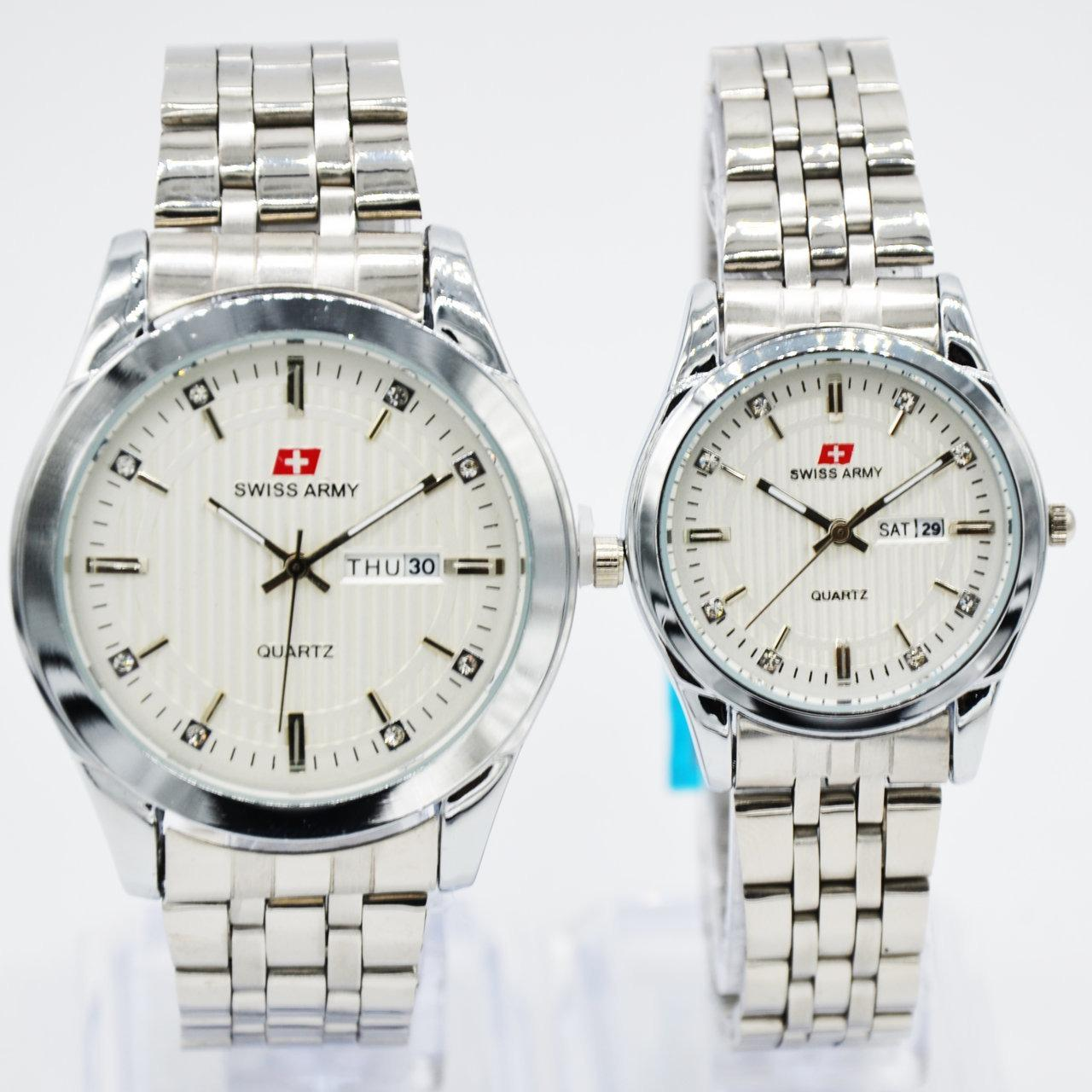 Swiss Army New Arrival - Jam Tangan Couple - Stainless Steel SA-4124 silver 80014d7e9f