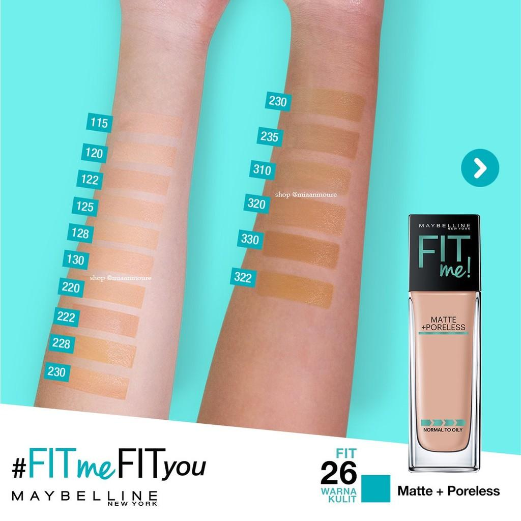 Maybelline Fit Me Matte and Poreless Foundation 122. Creamy Beige