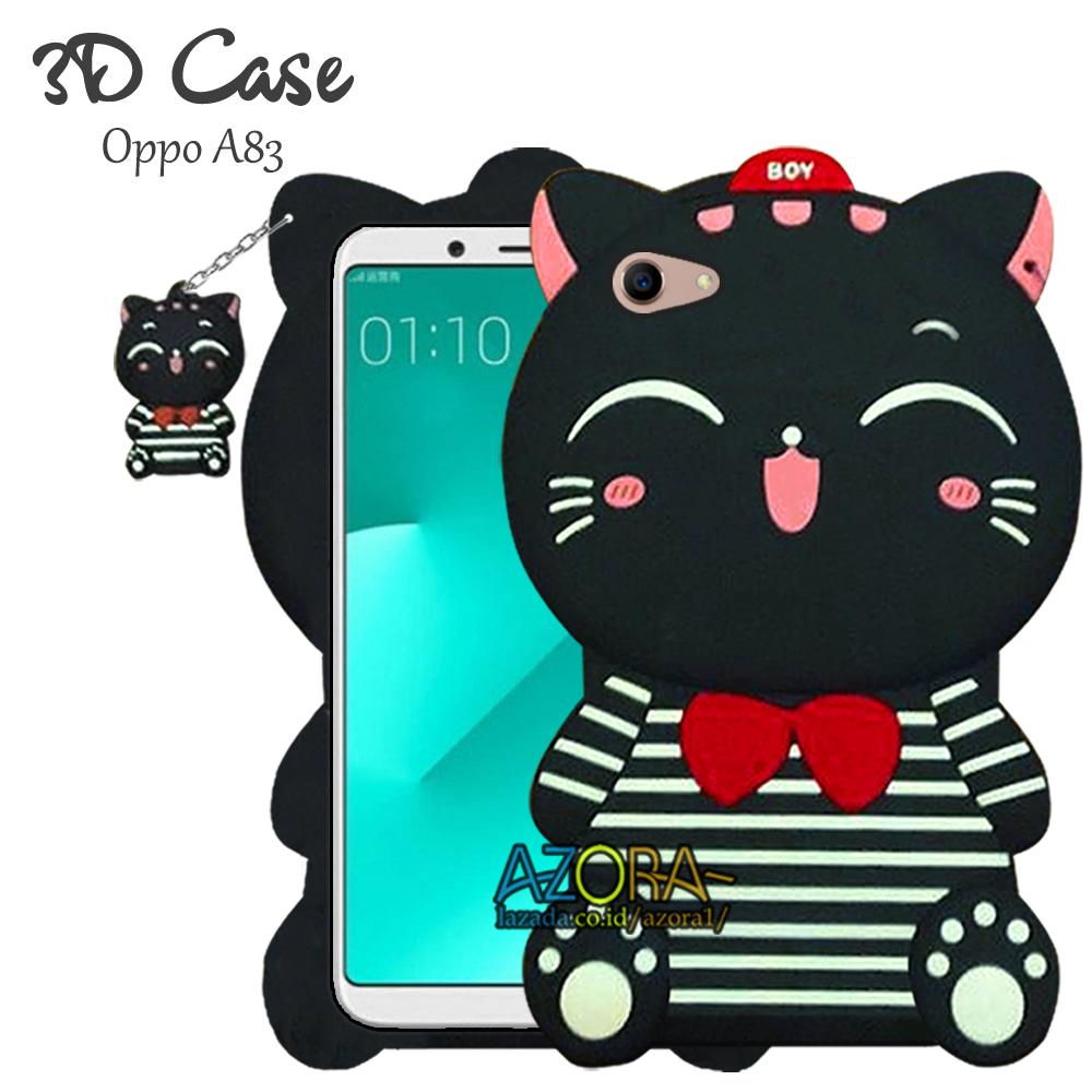 3D Case Oppo A83 Softcase 4D Karakter Boneka Hello Kitty Doraemon Lucu Character Cartoon