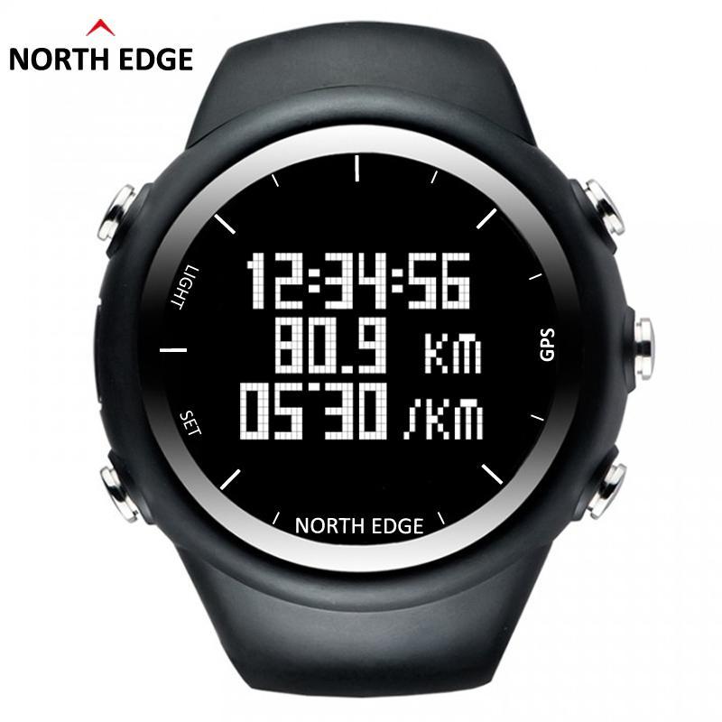 GPS olahraga lari tepi utara jam Digital pria dan wanita jam pintar untuk berenang menyelam berlayar binatu Waterproof 5atm jarak kalori - International