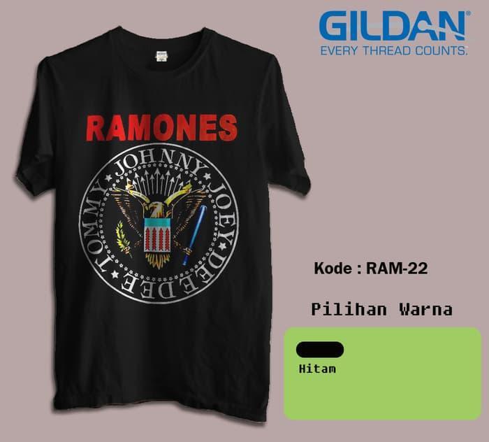 KAOS BAND RAMONES TSHIRT GILDAN SOFTSTYLE CODE RAM-22 - Nf0Nli