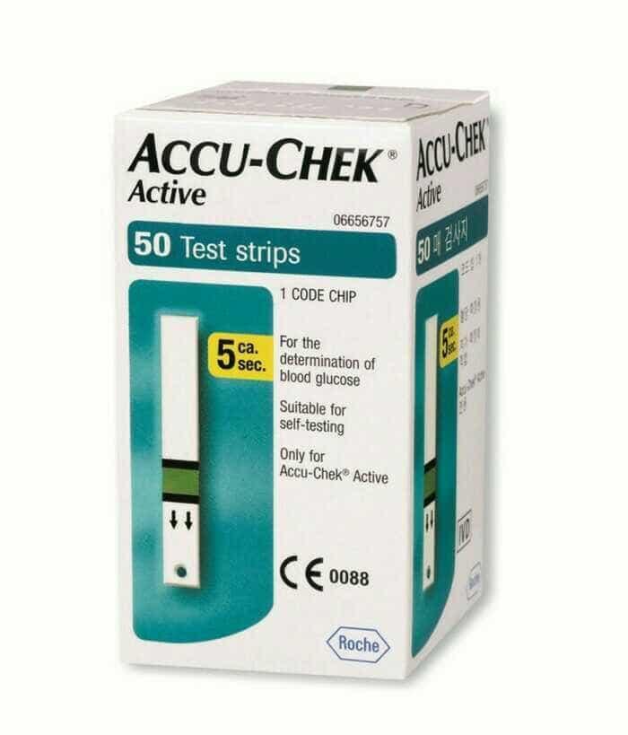 SALE - accu chek active (strip tes gula) Original