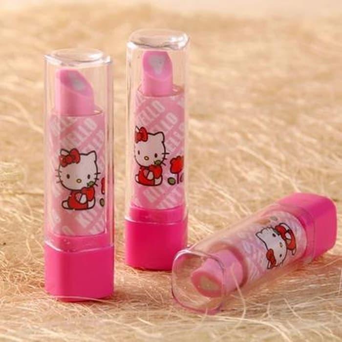 Penghapus Berbentuk Lipstik / Gincu Motif Hello Kitty