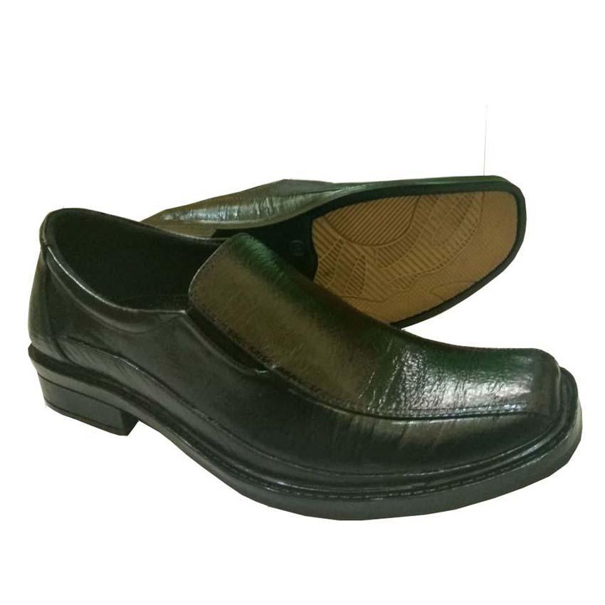 Sepatu Kulit Sepatu Kerja Pria Branded Sepatu Pantofel Pria - A9 - Hitam 856a9722fc