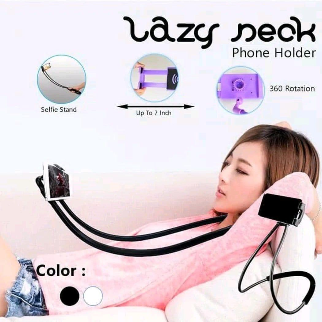 Lazypod Leher Dan Pinggang / Holder Hp Lazy Hanging Neck Cell Stand By Kuke.