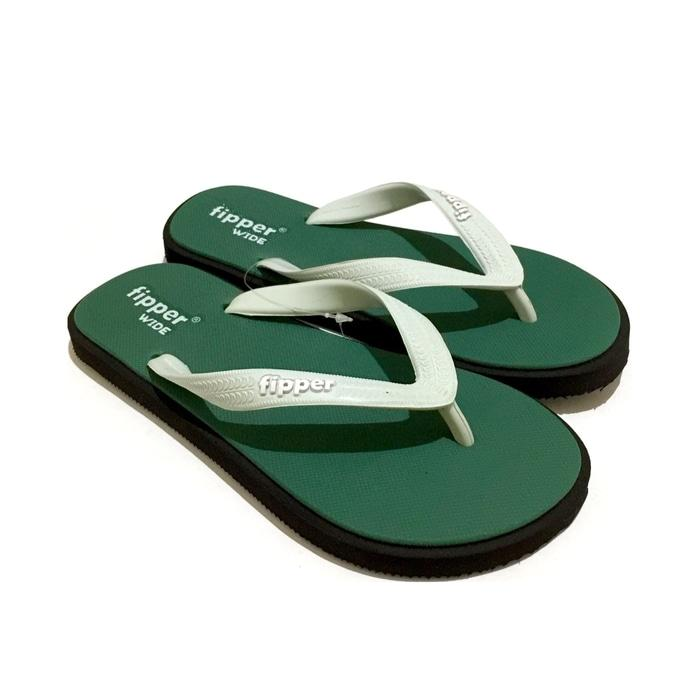Sedang Diskon!! Sandal Fipper Wide Green Black Mint - ready stock