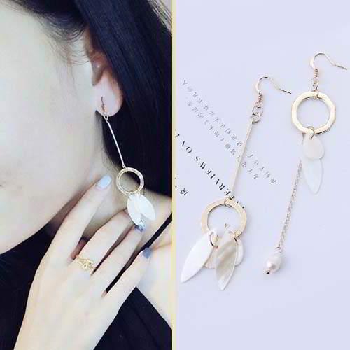 Anting Korea Tassel Earrings Elegant Pearls Shell Earrings APR198