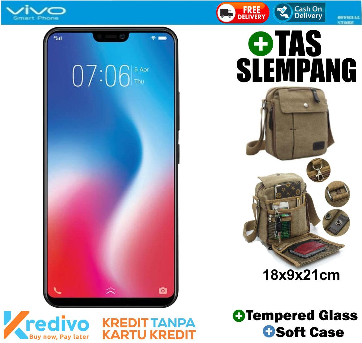 VIVO V9 4/64 - Black Plus Tas Slempang