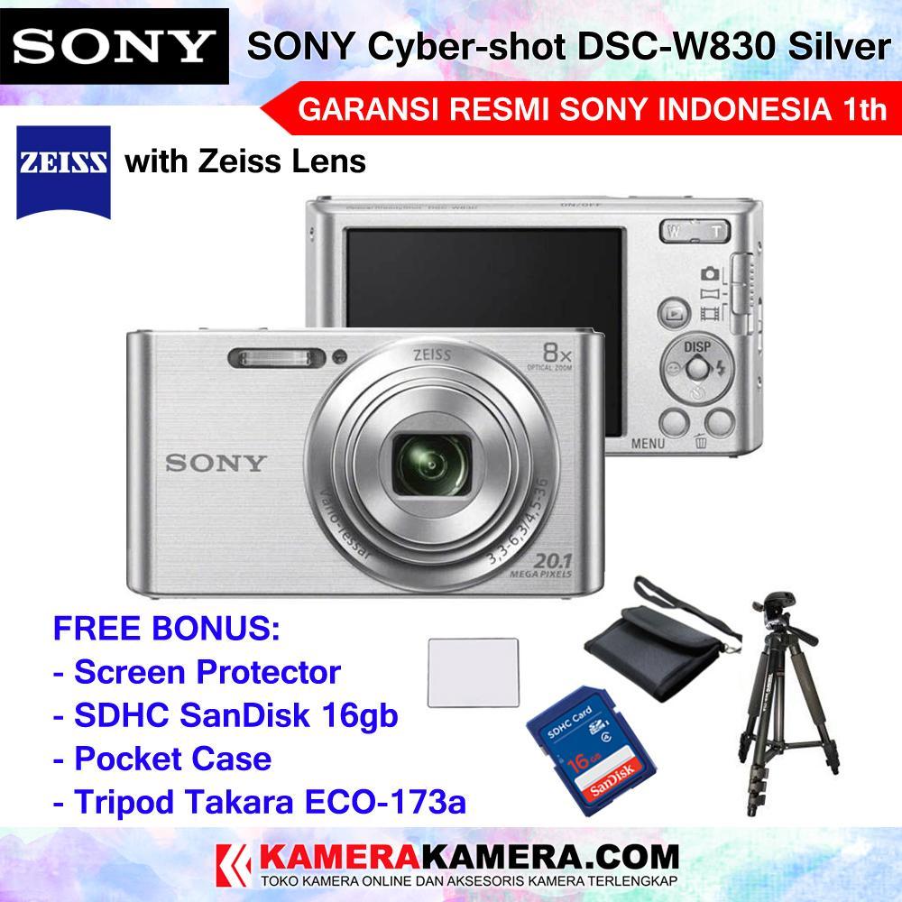 Kamera Pocket Compat Terbaru Takara Tripod Eco 173a Sony Cyber Shot Dsc W830 Zeiss Lens Camera 201mp 8x Optical