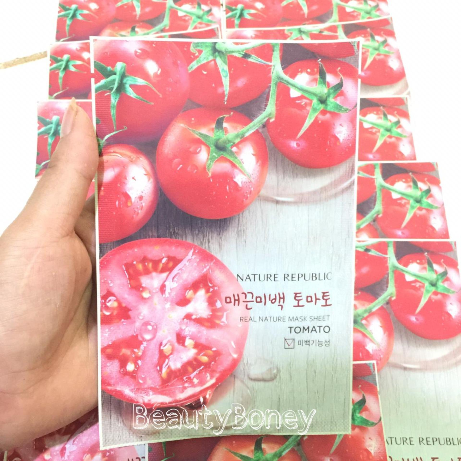 Harga Nature Republic Real Mask Sheet Masker Wajah Rp Tomato 28ml1