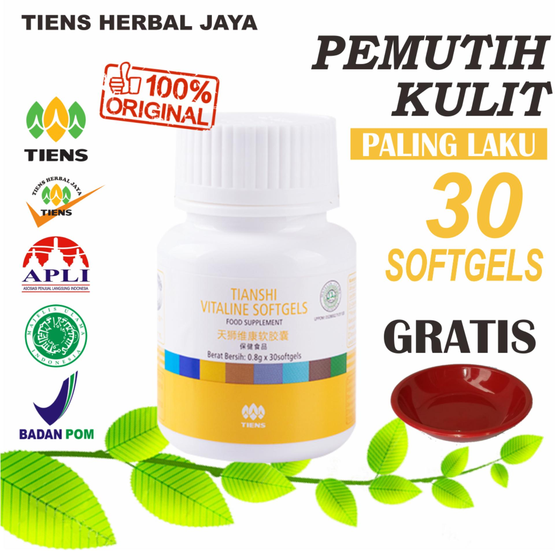 Tiens Vitaline Pemutih Kulit Herbal Alami (30 softgels) PROMO.! By Tiens Herbal Jaya