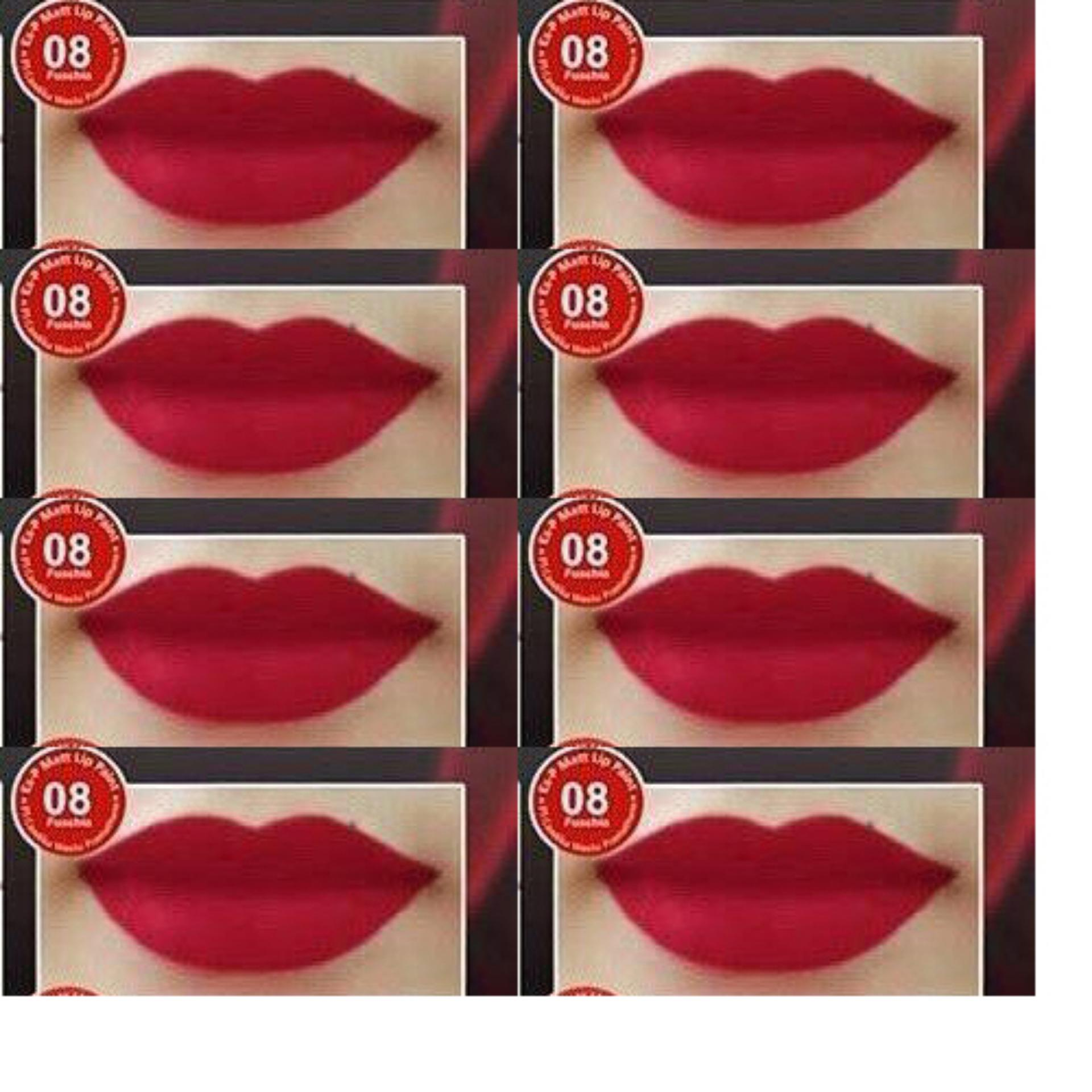 Aubeau Ex-P Matt Lip Paint (08 Fuschia) - Warna Pigmented Lipstick Matte