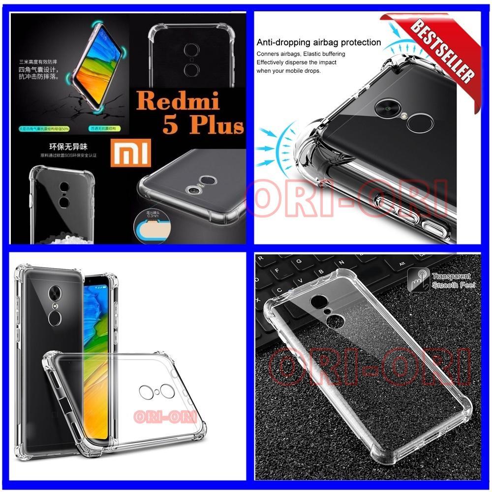 Case Anti Shock / Anti Crack Elegant Softcase for Xiaomi Redmi 5 Bahan Bagus Warna Bening ( ori-ori )