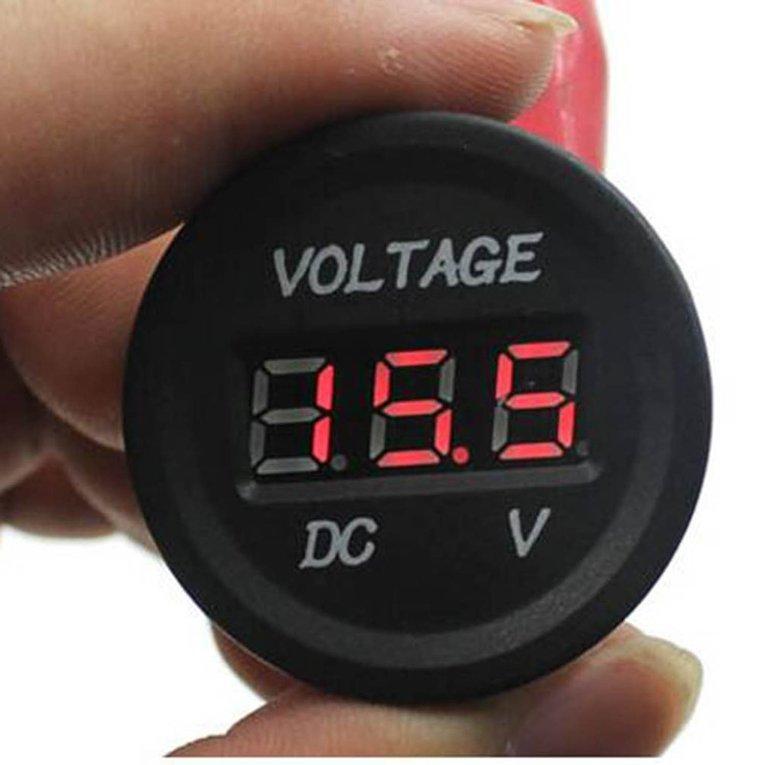 12 V-24 V DC LED Digital Display Voltmeter Otomatis Metro Voltmeter Kedap Air-Intl