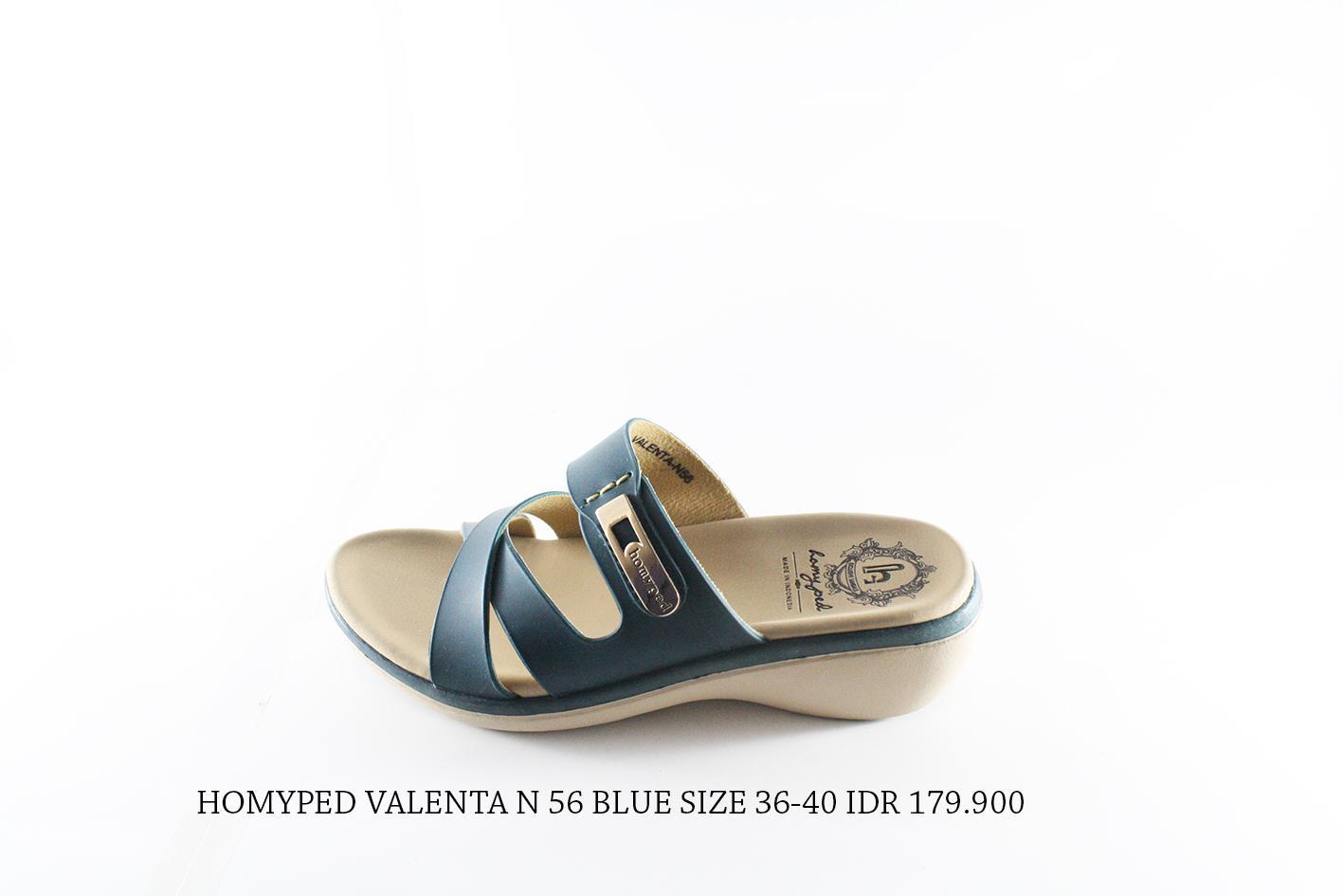 homyped valenta 56 sandal casual wanita biru