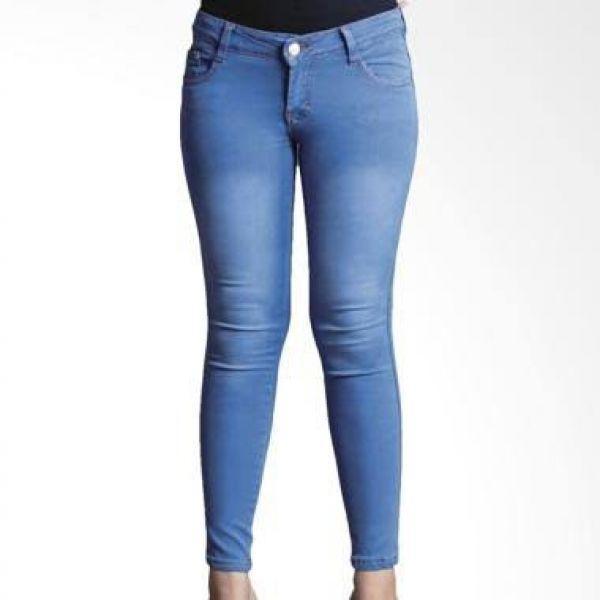 Celana Jeans Wanita Skinny Size Jumbo 33-38 - Skiny Bigsize - Soft Big Size Celana Panjang Skinny Cewek Model Terbaru