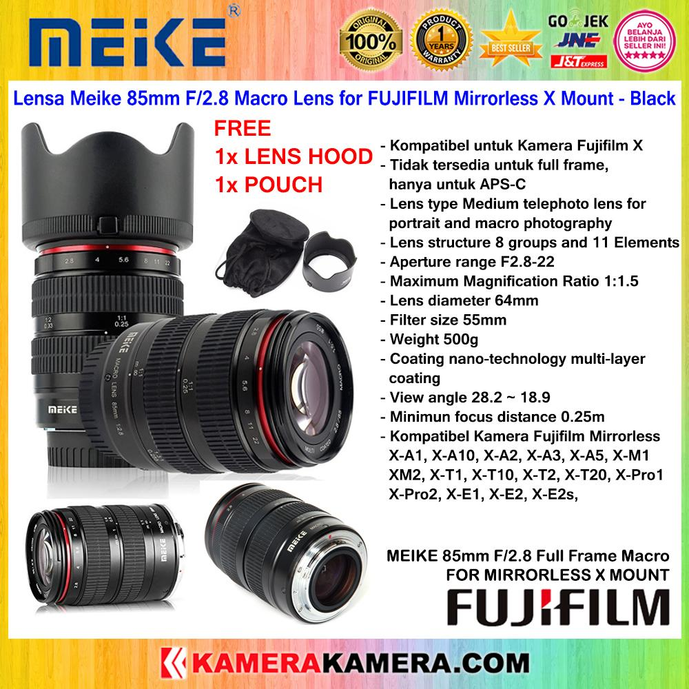 Lensa Meike 85mm F/2.8 Macro Lens For Fujifilm Mirrorless X Mount Full Frame By Kamerakamera.