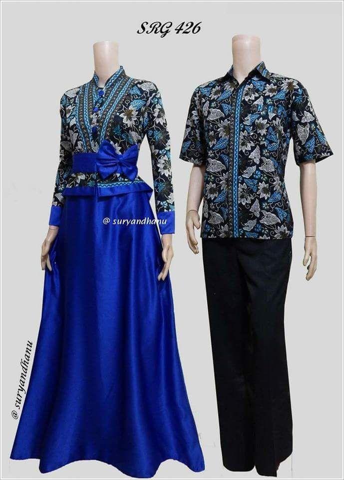 Baju Muslim Wanita Terbaru 2018 / Couple Batik / Batik Sarimbit / Batik Kondangan - SRG 426