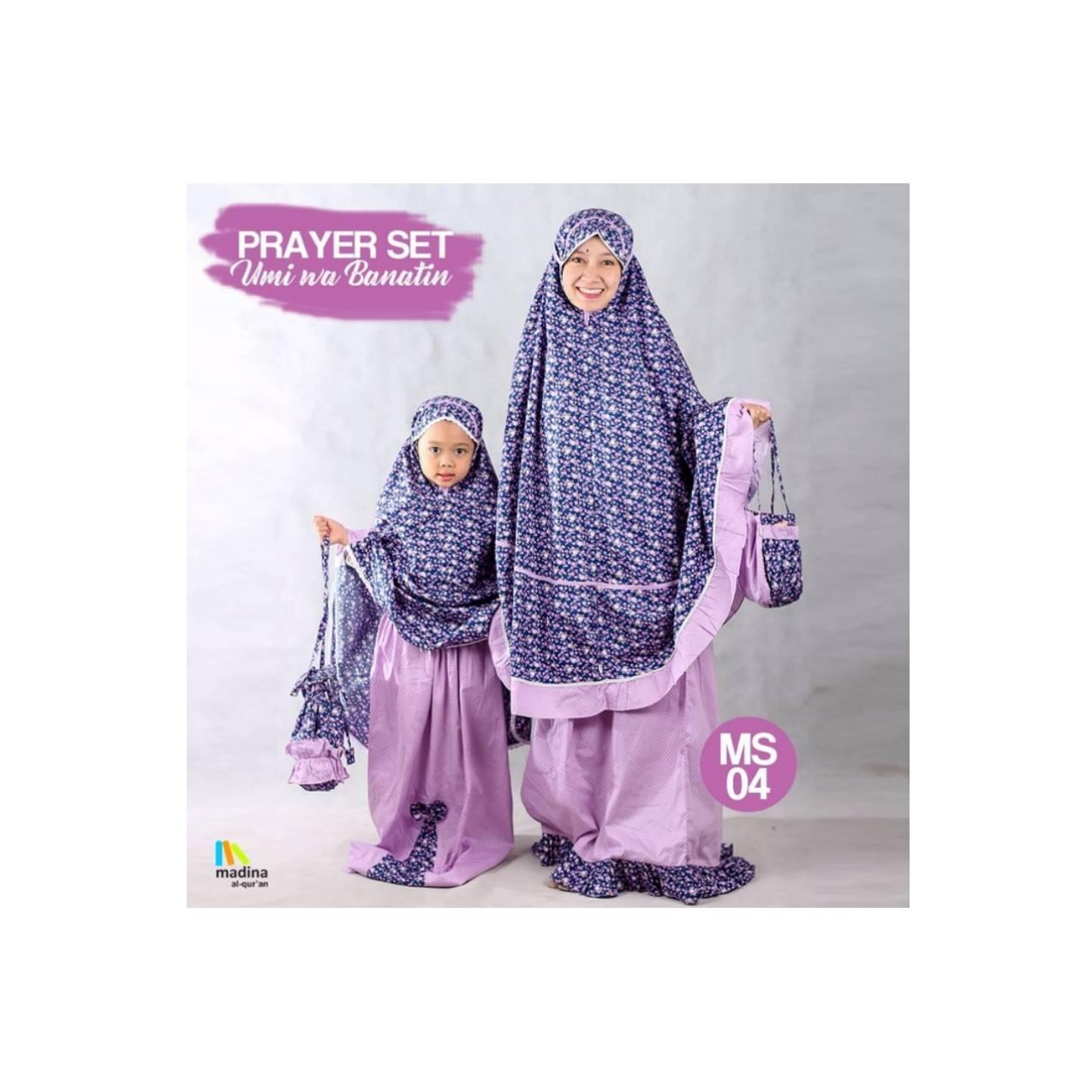 (Mini) Sarimbit Mukena Kembar Ibu dan Anak PrayerSet Zhafira Madina
