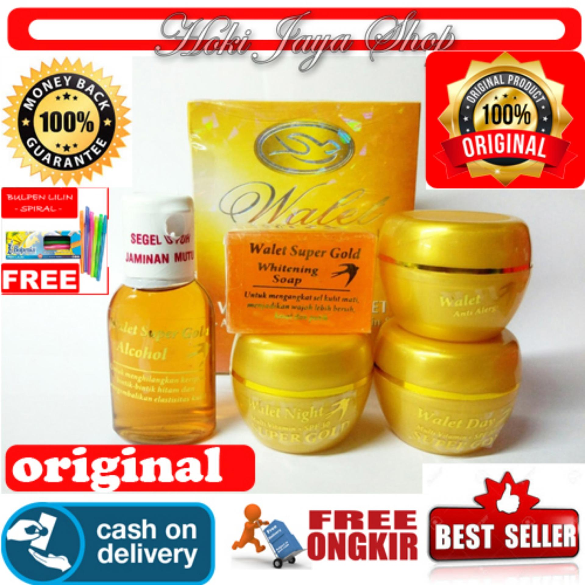 HOKI COD - Walet Super Gold (NATURAL) Premium Whitening Anti Aging Paket 5 In