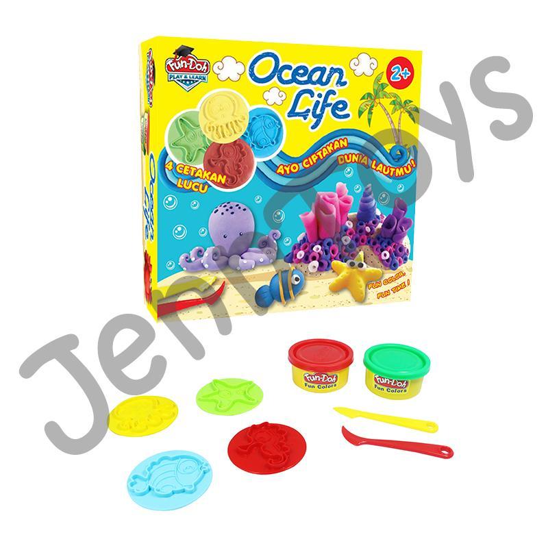 JennToys - Fun Doh Ocean Life - Mainan Edukatif Anak / Lilin Mainan