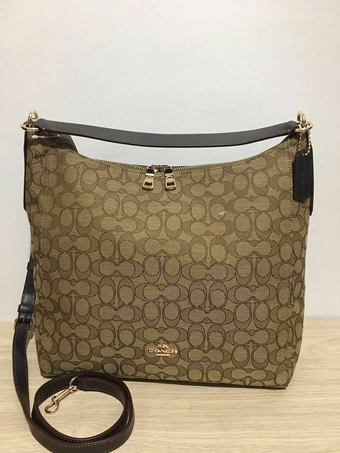 ASLI!!! Coach Celeste Hobo Sign Brown - U3GZc1
